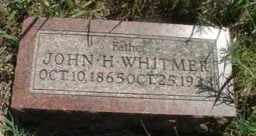 WHITMER, JOHN H. - Clay County, South Dakota | JOHN H. WHITMER - South Dakota Gravestone Photos