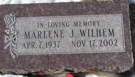 WILHEM, MARLENE J. - Clay County, South Dakota | MARLENE J. WILHEM - South Dakota Gravestone Photos