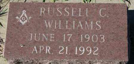 WILLIAMS, RUSSELL C. - Clay County, South Dakota | RUSSELL C. WILLIAMS - South Dakota Gravestone Photos