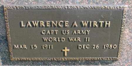 WIRTH, LAWRENCE A. (WW II) - Clay County, South Dakota | LAWRENCE A. (WW II) WIRTH - South Dakota Gravestone Photos