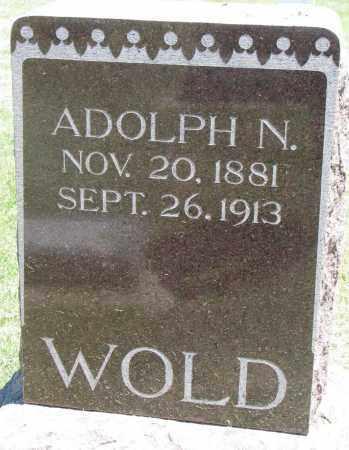 WOLD, ADOLPH N. - Clay County, South Dakota | ADOLPH N. WOLD - South Dakota Gravestone Photos