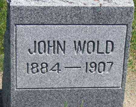 WOLD, JOHN - Clay County, South Dakota | JOHN WOLD - South Dakota Gravestone Photos