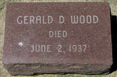 WOOD, GERALD D. - Clay County, South Dakota | GERALD D. WOOD - South Dakota Gravestone Photos