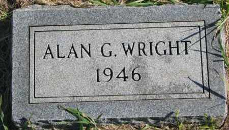 WRIGHT, ALAN G. - Clay County, South Dakota | ALAN G. WRIGHT - South Dakota Gravestone Photos