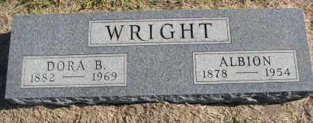 WRIGHT, ALBION - Clay County, South Dakota | ALBION WRIGHT - South Dakota Gravestone Photos
