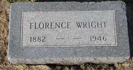 WRIGHT, FLORENCE - Clay County, South Dakota | FLORENCE WRIGHT - South Dakota Gravestone Photos