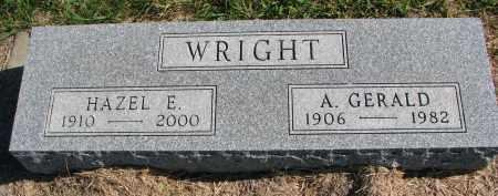 WRIGHT, A. GERALD - Clay County, South Dakota   A. GERALD WRIGHT - South Dakota Gravestone Photos