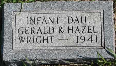 WRIGHT, INFANT DAUGHTER - Clay County, South Dakota | INFANT DAUGHTER WRIGHT - South Dakota Gravestone Photos
