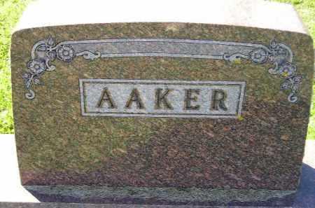 AAKER, FAMILY STONE - Codington County, South Dakota | FAMILY STONE AAKER - South Dakota Gravestone Photos