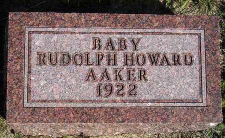 AAKER, RUDOLPH HOWARD - Codington County, South Dakota | RUDOLPH HOWARD AAKER - South Dakota Gravestone Photos