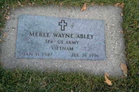 """ABLEY, MERLE WAYNE """"MILITARY"""" - Codington County, South Dakota   MERLE WAYNE """"MILITARY"""" ABLEY - South Dakota Gravestone Photos"""