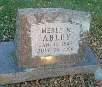 ABLEY, MERLE W - Codington County, South Dakota | MERLE W ABLEY - South Dakota Gravestone Photos