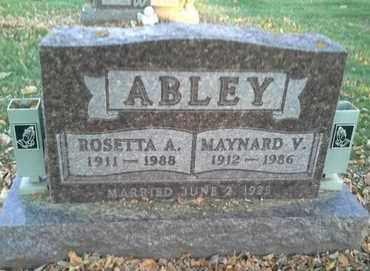 ABLEY, ROSETTA A - Codington County, South Dakota   ROSETTA A ABLEY - South Dakota Gravestone Photos