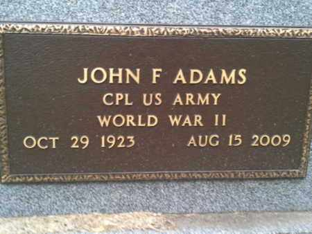 "ADAMS, JOHN F ""MILITARY"" - Codington County, South Dakota 