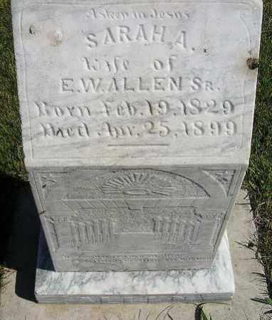 ALLEN, SARAH A. - Codington County, South Dakota | SARAH A. ALLEN - South Dakota Gravestone Photos