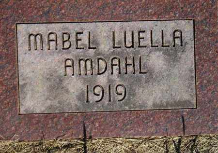 AMDAHL, MABEL LUELLA - Codington County, South Dakota   MABEL LUELLA AMDAHL - South Dakota Gravestone Photos