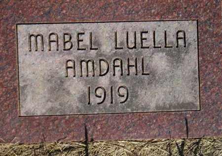 AMDAHL, MABEL LUELLA - Codington County, South Dakota | MABEL LUELLA AMDAHL - South Dakota Gravestone Photos