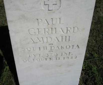 AMDAHL, PAUL GERHARD - Codington County, South Dakota | PAUL GERHARD AMDAHL - South Dakota Gravestone Photos