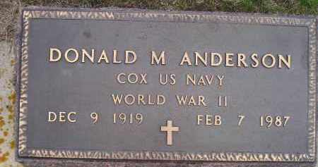 ANDERSON, DONALD M. (WW II) - Codington County, South Dakota   DONALD M. (WW II) ANDERSON - South Dakota Gravestone Photos