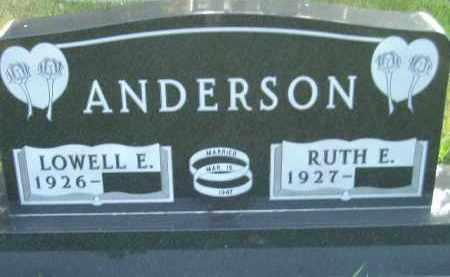 ANDERSON, RUTH E. - Codington County, South Dakota   RUTH E. ANDERSON - South Dakota Gravestone Photos