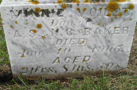 BAKER, MINNIE VIOLET - Codington County, South Dakota   MINNIE VIOLET BAKER - South Dakota Gravestone Photos