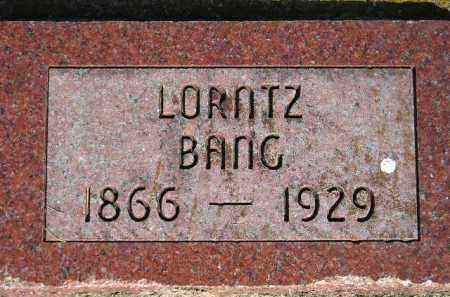 BANG, LORNTZ - Codington County, South Dakota | LORNTZ BANG - South Dakota Gravestone Photos