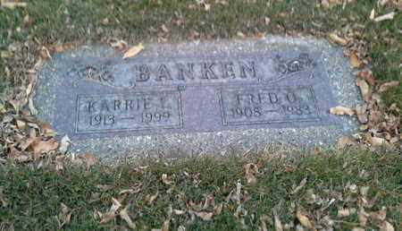 BANKEN, FRED O - Codington County, South Dakota | FRED O BANKEN - South Dakota Gravestone Photos