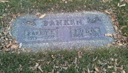 BANKEN, FRED O - Codington County, South Dakota | FRED O BANKEN - South Dakota Gravestone Photos