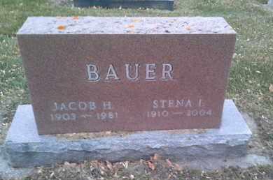 BAUER, JACOB H - Codington County, South Dakota | JACOB H BAUER - South Dakota Gravestone Photos