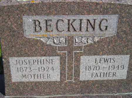BECKING, JOSEPHINE - Codington County, South Dakota | JOSEPHINE BECKING - South Dakota Gravestone Photos