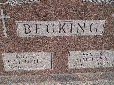BECKING, ANTHONY - Codington County, South Dakota | ANTHONY BECKING - South Dakota Gravestone Photos