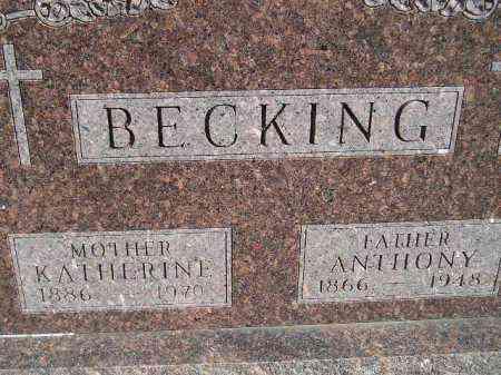 LORANG BECKING, KATHERINE - Codington County, South Dakota | KATHERINE LORANG BECKING - South Dakota Gravestone Photos