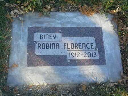 BINEY, ROBINA FLORENCE - Codington County, South Dakota   ROBINA FLORENCE BINEY - South Dakota Gravestone Photos