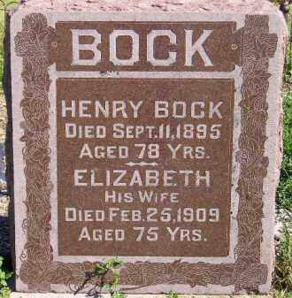 BOCK, ELIZABETH - Codington County, South Dakota | ELIZABETH BOCK - South Dakota Gravestone Photos