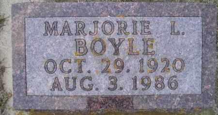 VOISS BOYLE, MARJORIE L. - Codington County, South Dakota | MARJORIE L. VOISS BOYLE - South Dakota Gravestone Photos