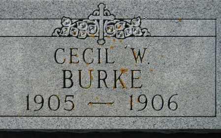 BURKE, CECIL W. - Codington County, South Dakota | CECIL W. BURKE - South Dakota Gravestone Photos