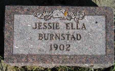 BURNSTAD, JESSIE ELLA - Codington County, South Dakota   JESSIE ELLA BURNSTAD - South Dakota Gravestone Photos