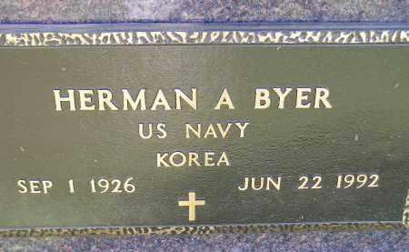 BYER, HERMAN A. (MILITARY) - Codington County, South Dakota | HERMAN A. (MILITARY) BYER - South Dakota Gravestone Photos