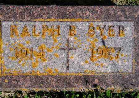 BYER, RALPH B. - Codington County, South Dakota | RALPH B. BYER - South Dakota Gravestone Photos