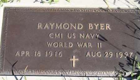BYER, RAYMOND (WW II) - Codington County, South Dakota | RAYMOND (WW II) BYER - South Dakota Gravestone Photos