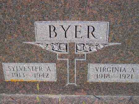 BYER, SYLVESTER A. - Codington County, South Dakota | SYLVESTER A. BYER - South Dakota Gravestone Photos