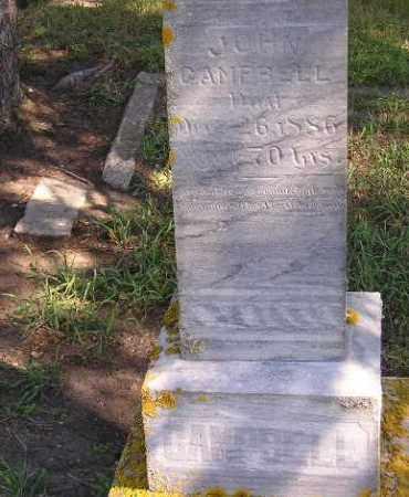 CAMPBELL, JOHN - Codington County, South Dakota | JOHN CAMPBELL - South Dakota Gravestone Photos