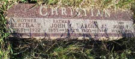 CHRISTIAN, BERTHA T. - Codington County, South Dakota | BERTHA T. CHRISTIAN - South Dakota Gravestone Photos