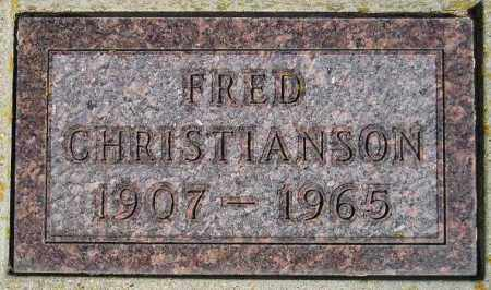 CHRISTIANSON, FRED - Codington County, South Dakota | FRED CHRISTIANSON - South Dakota Gravestone Photos