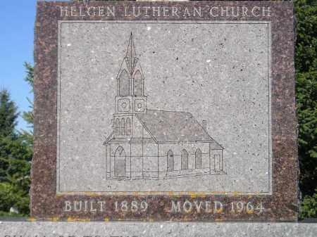 *CHURCH, MEMORIAL STONE - Codington County, South Dakota | MEMORIAL STONE *CHURCH - South Dakota Gravestone Photos