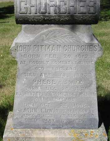 CHURCHES, PHEBE E. - Codington County, South Dakota | PHEBE E. CHURCHES - South Dakota Gravestone Photos