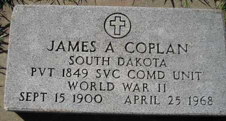COPLAN, JAMES A. - Codington County, South Dakota | JAMES A. COPLAN - South Dakota Gravestone Photos