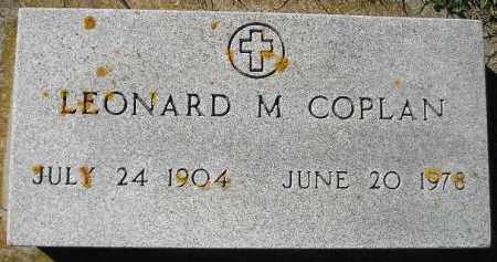 COPLAN, LEONARD M. - Codington County, South Dakota | LEONARD M. COPLAN - South Dakota Gravestone Photos