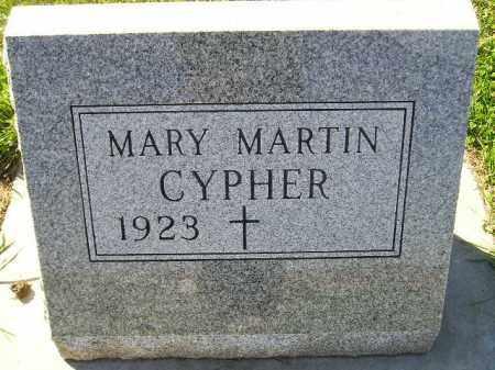 CYPHER, MARY - Codington County, South Dakota | MARY CYPHER - South Dakota Gravestone Photos