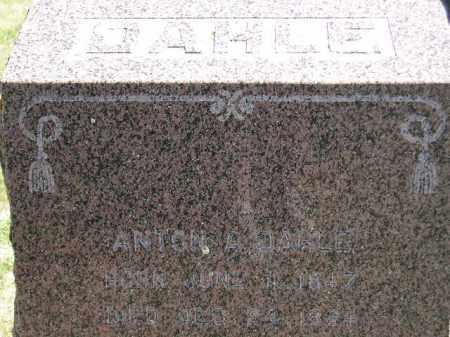 DAHLE, ANTON A. - Codington County, South Dakota   ANTON A. DAHLE - South Dakota Gravestone Photos